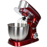 Syntrox Germany Küchenmaschine Food Processor Knetmaschine rot